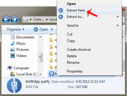 how to look at rar files