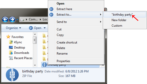 How to open zip file and unzip files from the archive in one